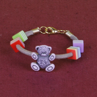 10 - CHILD'S LEATHER THONG BRACELET