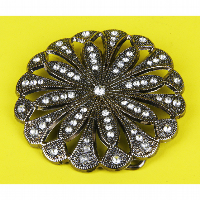 2 - SCALLOPED CIRCULAR BELT BUCKLE