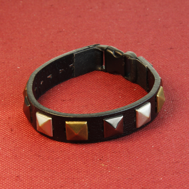 19 - LEATHER  STUDDED BRACELET
