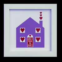 6 - HOME IS WHERE THE HEART IS PAPER SCULPTURE WITH MATCHING VALENTINE CARTD