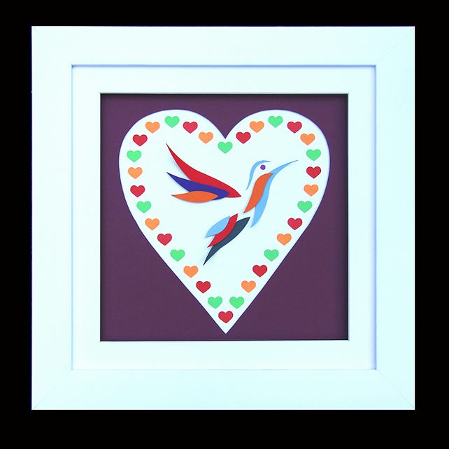 5 - HUMMINGBIRD HEART WITH MATCHING VALENTINES CARD