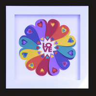 2 - LOVE HEAR CIRCLE WITH MATCHING VALENTINE CARD