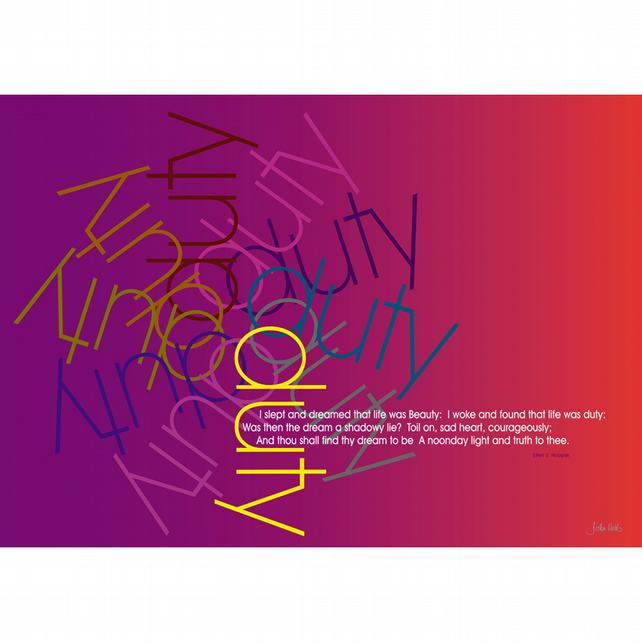 2 - 'DUTY' POETRY TYPOGRAPHICAL POSTER