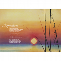 9 - 'REFLECTIONS' TYPOGRAPHICAL POETRY POSTER