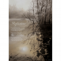 10 - 'REFLECTIONS' TYPOGRAPHICAL POETRY POSTER