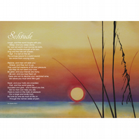 13 - 'SOLITUDE' TYPOGRAPHICAL POETRY POSTER