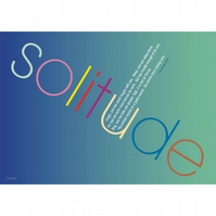 14 - 'SOLITUDE' TYPOGRAPHICAL POETRY POSTER