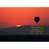 SUNSET HOT AIR BALLOON POSTER - 1
