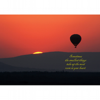 HOT AIR BALLOON SUNSET POSTER - 2