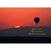HOT AIR BALLON SUNSET POSTER - 3