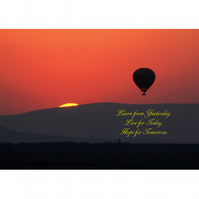 HOT AIR BALLOON SUNSET POSTER - 4
