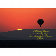 HOT AIR BALLON SUNSET POSTER - 6