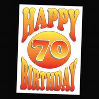 7 - AGES BIRTHDAY CARD - 70 YEARS