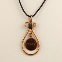 W019 COPPER PEACE NECKLACE