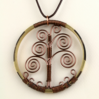 W023 DECORATIVE TREE OF LIFE NECKLACE