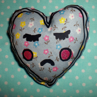 Lonely heart printed badge