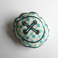 Printed button badge