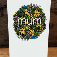 """Mum"" - mother's day card"