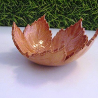 Orange Ceramic leaf bowl