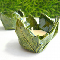Beautiful leaf tealight holder