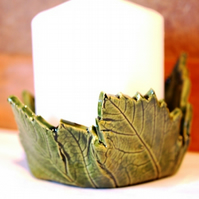 large leaf candle holder