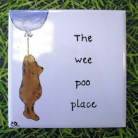 Wee Poo Place Sign