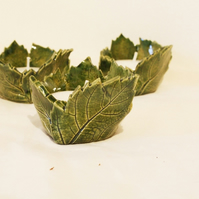 Beautiful leaf tealight holders