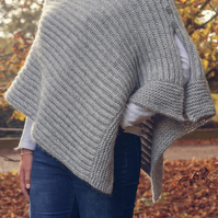 Knitted Alpaca Mix Poncho