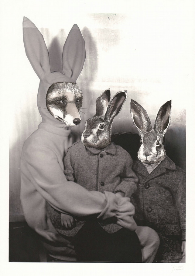 'Rabbit Costume' A4 Print