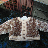 Brown and Beige Fleck Cardigan for 3-9 months
