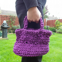 Purple Hoooked Zpagetti Crochet Handbag