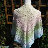 The Bruinen Shawl Crocheted Using Scheepjes Whirl