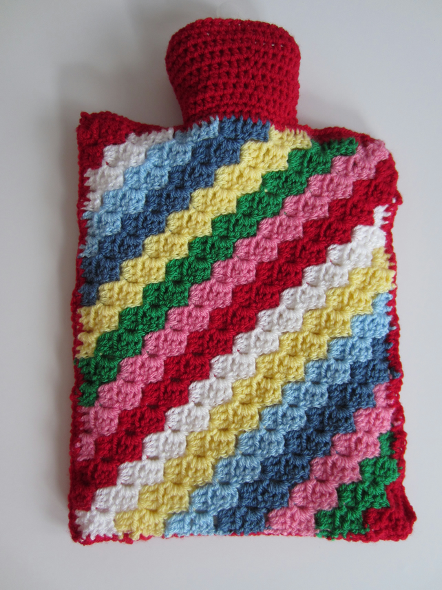 Hot Water Bottle 2l With Removable Crocheted Co Folksy