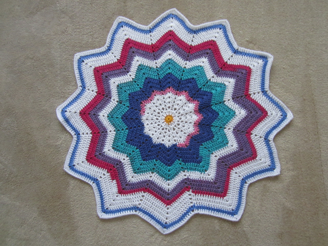 Rainbow Star Baby Blanket
