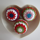 "Set of 3  4""  Crocheted Christmas Baubles"