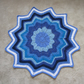 Blue and White Crochet Star Baby Blanket