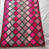 Pink and Grey Spin Your Granny Blanket