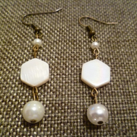 Shell & Pearl Earrings