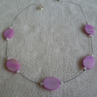 Pink Shells Illusion Necklace