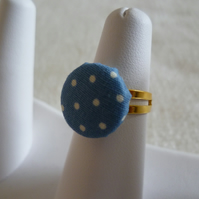 Spotty Button Ring