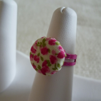 Floral Button Ring