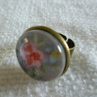 Vintage Floral Cameo Ring