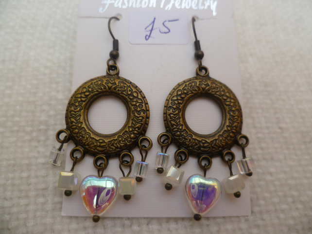 Bronze Chandelier Earrings