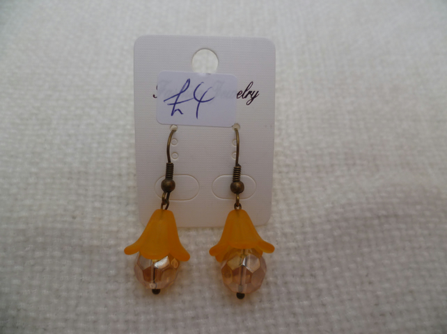 Topaz Flower Bulb Earrings