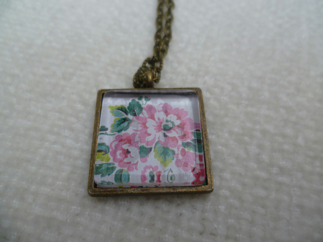 Floral Cameo Pendant