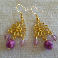 Gold Chandelier Earrings 2