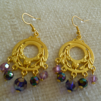 Gold Chandelier Earrings 3