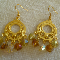 Gold Chandelier Earrings 4