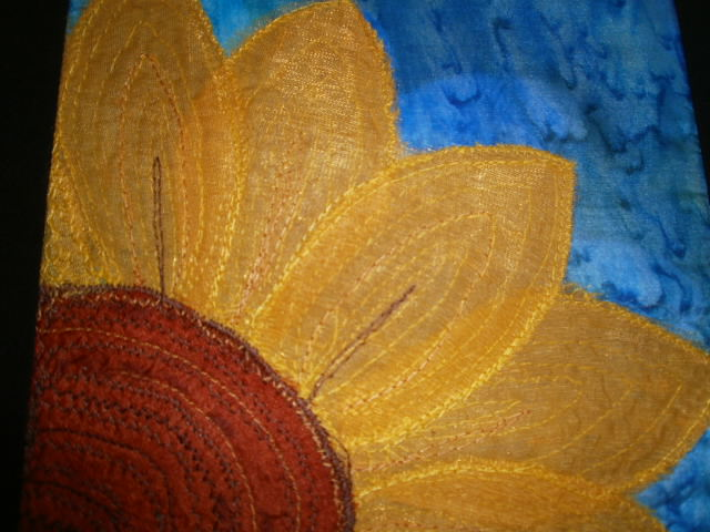 Sunflower. Textile Art