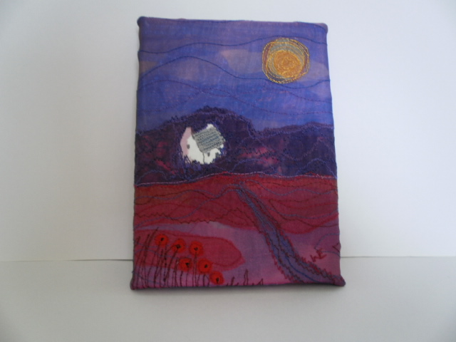 Field Cottage Textile Art